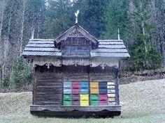 Slovenia. bee house. I really have to improve my carpentry skills.