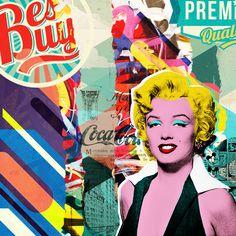 Marilyn Monroe - Pop Art Collage