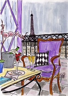 Champagne in Paris by Fifi Flowers