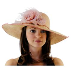 Hello Mellow Chic Ladies Derby Hat with Ostrich and Lace $55
