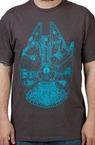 Charcoal Millennium Falcon Shirt