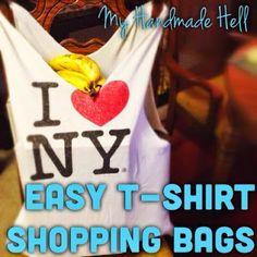 My Handmade Hell: Easy T-Shirt Shopping Bags