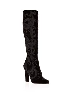 Salvatore Ferragamo / Embroidered Boot. Love the Victorian Gothic feel of these boots...