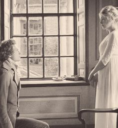 Simon Woods (Mr. Charles Bingley) & Rosamund Pike (Jane Bennet) - Pride & Prejudice (2005) #janeausten #joewright