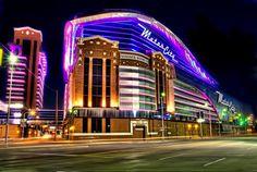Motor City Casino in Detroit at night