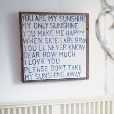 'You Are My Sunshine' Wooden Art Print from notonthehighstreet.com