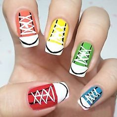 Post image for Nail Art Designs Step by Step Tutorial for Beginners 25: Cute Sport Shoes