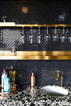 Kitchen Splashback Tiles via GRT Architects