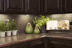3 Kitchen Decorating Ideas for the Real Home - Kylie M Interiors how to decorate and accessorize a kitchen countertop for living or for home staging ideas Kitchen Decorating, Kitchen Staging, Kitchen Countertop Decor, Kitchen Redo, New Kitchen, Kitchen Cabinets, Kitchen Ideas, Kitchen Plants, Kitchen Counter Decorations