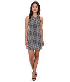 Rebecca Minkoff Women's Emma Dress Black Dress. Rebecca Minkoff Size Guide. Spark your festival spirit with the Emma Dress!. Printed sheath dress crafted in a lightweight cotton weave. High round neckline and sleeveless design creates a contemporary silhouette. Contrast silk trim. Hidden back hook and zipper closure. Straight hem. 100% cotton;Combo: 100% silk;Lining: 95% polyester, 5% spandex. Dry clean only. Imported. Measurements: Length: 33 in Product measurements were taken using size…