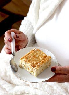 KRAKERSIK Z KREMEM BUDYNIOWYM Tiramisu, Baking Recipes, Cheesecake, Fit, Ethnic Recipes, Sweet, Cooking Recipes, Candy, Cheese Cakes