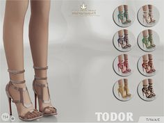 New cutout sandals for your sim! Come in 9 colours (patent leather). Joints are perfectly assigned. All LODs are replaced with new ones.  Found in TSR Category 'Sims 4 Shoes Female'