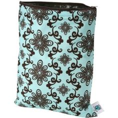 Planet Wise (Medium) Washable/Reusable Wet Bag for Swimwear, Diapers, Gym, Yoga, Travel, etc (Aqua Swirl) http://travelfashiongirl.com/shop  #travel #accessories
