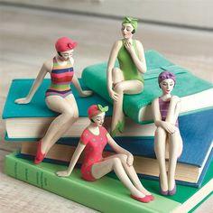 Bathing Beauties Shelf Sitter Figurines, Set of 4