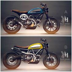 Ducati Scrambler by Holographic Hammer