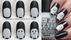 Tutorial Tuesday, The Digit-al Dozen DOES Black and White Day 2: Adipose Nail Art! - Adventures In Acetone