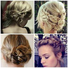 penteados para cabelos curtos com tranças - Google Search
