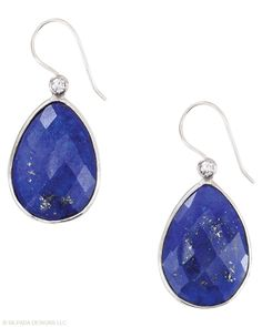 Jewelry Box by Silpada Designs | Twilight Drop Earrings These, coupled with the peachy pink earrings are among my favourites......Natural lapis in sterling silver...