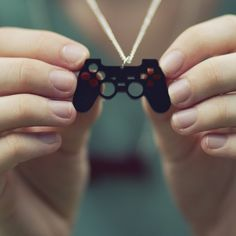 Etsy necklace for all the girl gamers. Now that's geek chic!