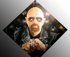 SHANNON was commissioned by the Rock and Roll Fantasy Camp in Las vegas to paint this portrait of Rob Halford of Judas Priest.
