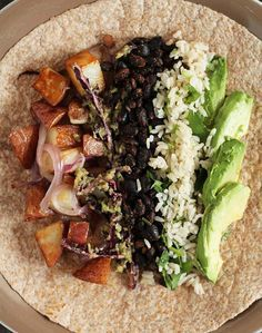 The Vegan Breakfast Burrito Use Gluten Free tortilla and saute' in vegetable broth instead of oil.