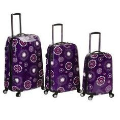 Fox Luggage F150-PURPLE PEARL 3Pc Vision Polycarbonate-Abs Luggage Set Rockland