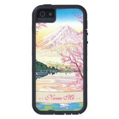 SOLD! - Cool oriental japanese Fuji spring cherry tree Case-Mate Tough Xtreme iPhone 5 Case #fuji #spring #cherry #iphone5 #case #cover
