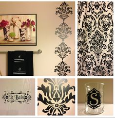 Etonnant I Am Re Doing My Bathroom   Damask   I Used Vinyl And My