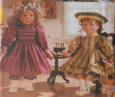 """18"""" Doll Party Dresses Sewing Pattern Vogue Craft 9965"""