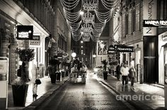 Carriage Ride Down the Street Photograph by John Rizzuto Vienna, Fine Art Prints, Street, Photography, Photograph, Photography Business, Photoshoot, Fotografie, Fotografia