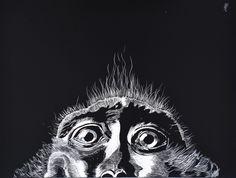 Portrait de singe Artiste animalier  La Galerie de Julie