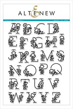 English Alphabet Clear Stamp with flower / Creative Letter S.-English Alphabet Clear Stamp with flower / Creative Letter Silicone Stamp / Clear Stamp / Scrapbooking Stamp / Bullet Journal Stamp - Pretty Fonts Alphabet, Hand Lettering Alphabet, Alphabet Stamps, Doodle Lettering, Creative Lettering, Caligraphy Alphabet, Doodle Alphabet, Doodle Fonts, Handwriting Fonts Alphabet