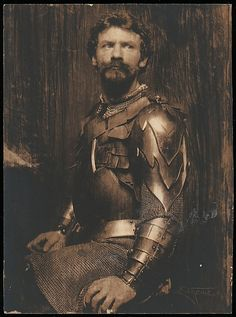 Frank Eugene (American, 1865–1936). The Man in Armor, 1898. The Metropolitan Museum of Art, New York. Rogers Fund, 1972 (1972.633.138) #mustache #movember