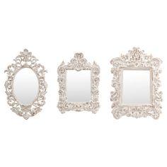 3-Piece Allison Wall Mirror Set - Homespun Charm on Joss & Main