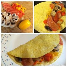 Easy Paleo Omelette with Summer Vegetables | Oh Snap! Let's Eat!