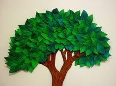 """Obrigada pela visita em nossa loja virtual, seja muito Bem Vinda (o) ! Tendo como objetivo atender bem nossos clientes, dispomos abaixo, mais opções de MEDIDAS e VALORES, caso queira adquirir outros tamanhos, envie-nos uma mensagem clicando em """"CONTATAR VENDEDOR"""" para disponibilizarmos o acess... Classroom Tree, Preschool Classroom Decor, Recycled Paper Crafts, Cardboard Crafts, Vbs Crafts, Crafts For Kids, School Door Decorations, Paper Tree, Art Activities For Kids"""