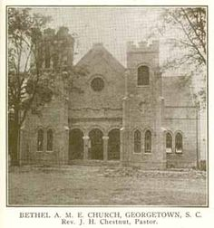Devyn W. Religious Landscapes are places of worship or prayer located on the landscape.  This is a picture of Bethel  AME Church in Georgetown, SC, my hometown. This has been an example of a religious landscape since 1865.