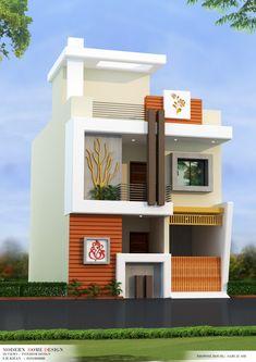 Modern Bungalow House Design, Modern Exterior House Designs, Duplex House Design, House Front Design, House Design Photos, Tiny House Design, 2 Storey House Design, House Elevation, Front Elevation Designs