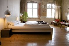 #Berlin - This flat is over 90 square meters on the 4th floor of a renovated East Berlin style house. ($119 per night)