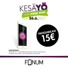 FONUM Suojaa puhelimesi näyttö: Panssarilasi asennettuna puhelimeen 15€. Saatavana IPhone 4–7+, Samsung Galaxy S4–S7, A3–A5 & J5, Honor 6-8, Sony Z3-Z5 & Oneplus 3 & 3T.