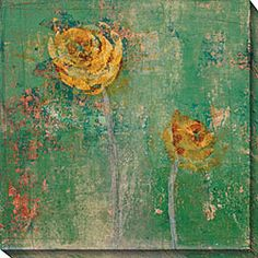 Antique and delicate, plays well with my teal splash of color  $117    Maxwell Dickson Serenity Abstract Canvas Wall Art