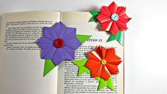 Marcapáginas de origami modular   Flor de origami modular   Origami Book...