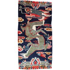 Tibetan Dragon Pillar Rug | From a unique collection of antique and modern chinese and east asian rugs at http://www.1stdibs.com/rugs-carpets/chinese-rugs/