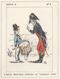 Legion Nautique Officer and Drummer Egypt 1799