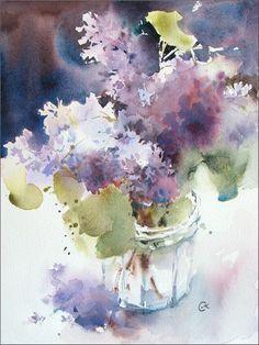 Lilacs by Maria Stezhko