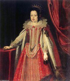 """""""Ritratto di Vittoria della Rovere (2)"""", olio su tela di Justus Sustermans (1597-1681, Belgium)"""