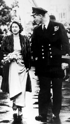 Photos: Queen Elizabeth II and Prince Philip's Youthful Romance | Vanity Fair.  Princess Elizabeth and Prince Philip act as bridesmaid and usher at the wedding of Philip's cousin Patricia Mountbatten to John Knatchbull October 1946.