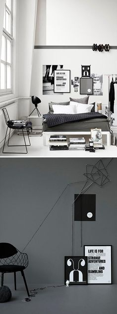 black & white interior ###