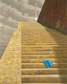 "The Steps by Jeffrey Smart (Style ""Hyper-Realism"") Australian Painters, Australian Artists, Julia Gillard, Charles Sheeler, Jeffrey Smart, Smart Art, Photorealism, Hyperrealism, Urban Landscape"