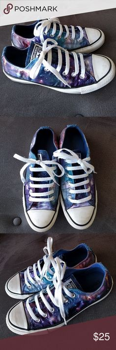 Galaxy Chucks size mens 5 womens 7 Fabulous Galaxy Converse Chuck Taylors. Some wear to toes but overall very clean and lightly used. Please look at all photos. From a smoke and pet free home. Converse Shoes Sneakers